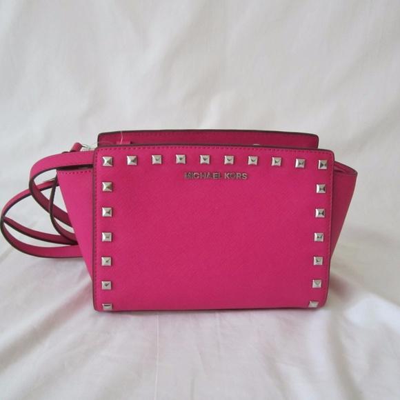 e148a0d0b480a3 Michael Kors Bags | Selma Studded Medium Messenger Bag | Poshmark